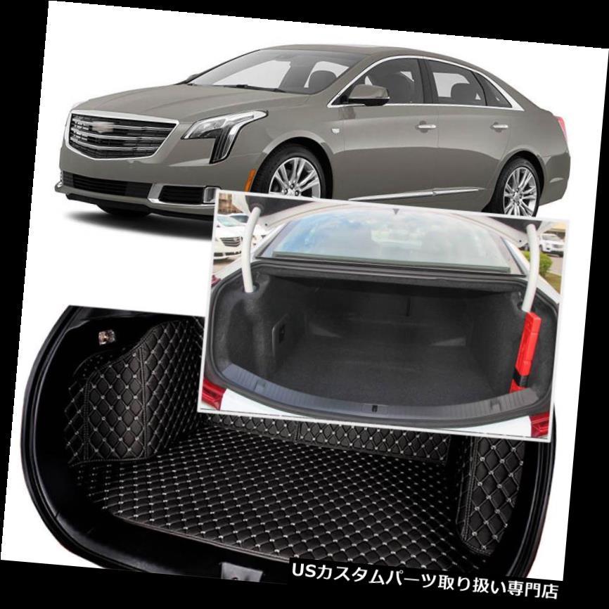 リアーカーゴカバー キャデラックXTS 2013-18のための黒い後部トランクカバー貨物マットシート&フロアプロテクター Black Rear Trunk Cover Cargo Mats Seat&Floor Protector For Cadillac XTS 2013-18