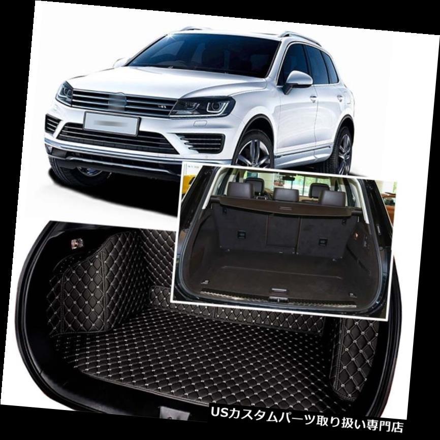 リアーカーゴカバー 1セットブラックリアトランクカバーカーゴマットシート&フロアプロテクターfor VW Tiguan 2011+ 1Set Black Rear Trunk Cover Cargo Mats Seat&Floor Protector For VW Tiguan 2011+