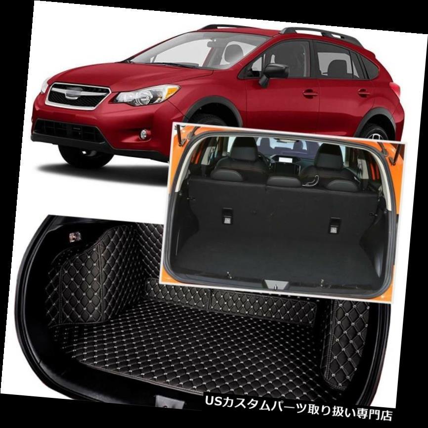 リアーカーゴカバー スバルXV 2015-2018用ブラックリアトランクカバーカーゴマットシート&フロアプロテクター Black Rear Trunk Cover Cargo Mats Seat&Floor Protector For Subaru XV 2015-2018