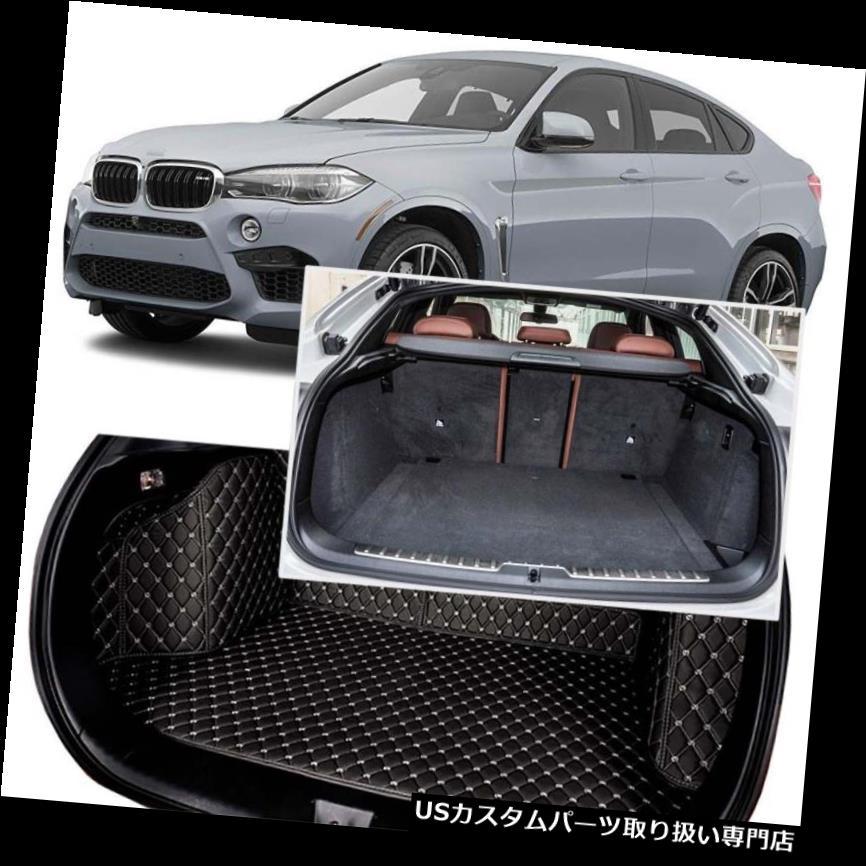 リアーカーゴカバー BMW X6 2010-2018用ブラックリアトランクカバーカーゴマットシート&フロアプロテクター Black Rear Trunk Cover Cargo Mats Seat&Floor Protector For BMW X6 2010-2018