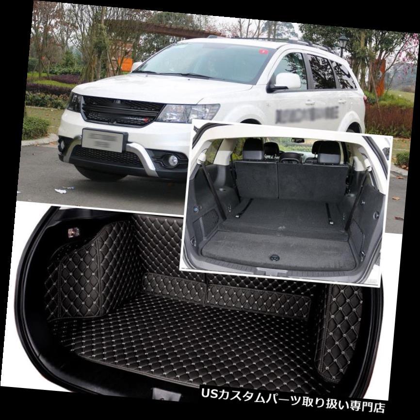 リアーカーゴカバー ダッジJCUV 7席用ブラックリアトランクカバーカーゴマットシート&フロアプロテクター Black Rear Trunk Cover Cargo Mats Seat&Floor Protector For Dodge JCUV 7 Seats