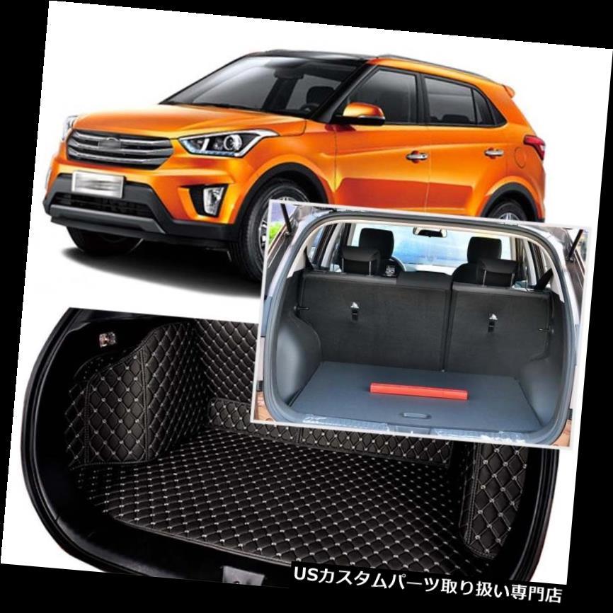 リアーカーゴカバー ヒュンダイIX25 2015-17のための黒い後部トランクカバー貨物マットの座席及び床の保護装置 Black Rear Trunk Cover Cargo Mats Seat&Floor Protector For Hyundai IX25 2015-17