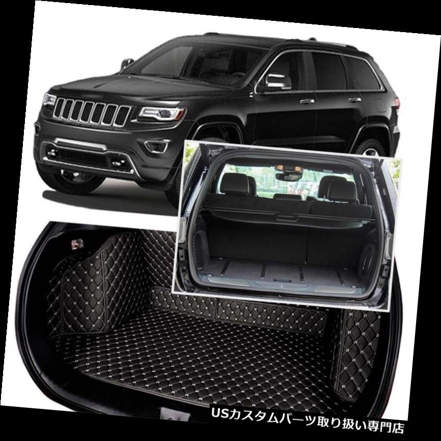 リアーカーゴカバー ジープグランドチェロキー用ブラックリアトランクカバーカーゴマットシート&フロアプロテクター Black Rear Trunk Cover Cargo Mats Seat&Floor Protector For Jeep Grand Cherokee