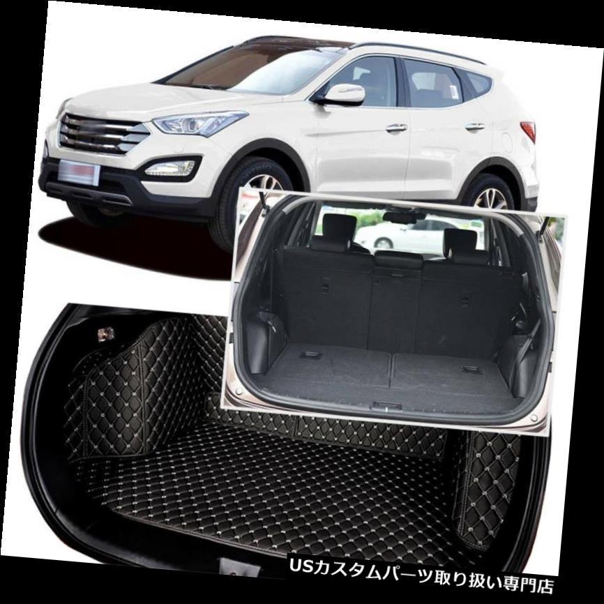 リアーカーゴカバー ヒュンダイグランドサンタフェのための黒い後部トランクカバー貨物マットシート&フロアプロテクター Black Rear Trunk Cover Cargo Mats Seat&Floor Protector For Hyundai Grand SantaFe