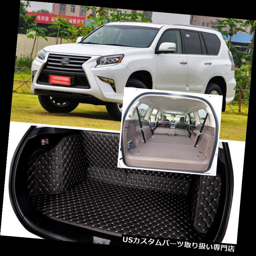 リアーカーゴカバー 1セットブラックリアトランクカバーカーゴマットシート&フロアプロテクター用レクサスGX 2012-16 1Set Black Rear Trunk Cover Cargo Mats Seat&Floor Protector For Lexus GX 2012-16