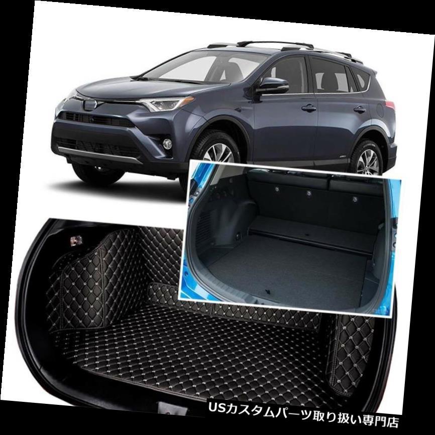 リアーカーゴカバー 1セットブラックリアトランクカバーカーゴマットシート&フロアプロテクタートヨタRAV4 14+ 1Set Black Rear Trunk Cover Cargo Mats Seat&Floor Protector For Toyota RAV4 14+