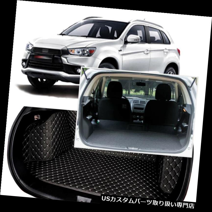 リアーカーゴカバー 黒い後部トランクカバー貨物マットの座席及び三菱ASX 13-18のための床の保護装置 Black Rear Trunk Cover Cargo Mats Seat&Floor Protector For Mitusbishi ASX 13-18