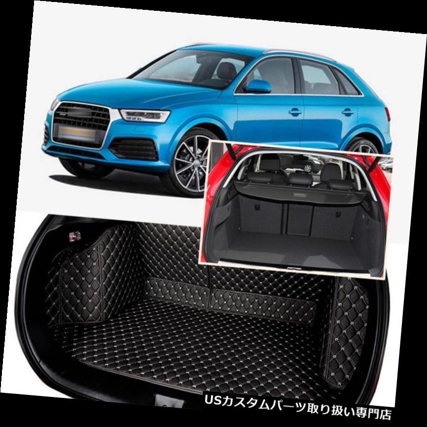 リアーカーゴカバー 1セットブラックリアトランクカバーカーゴマットシート&フロアプロテクター5席アウディQ3 1Set Black Rear Trunk Cover Cargo Mats Seat&Floor Protector For 5 Seat Audi Q3