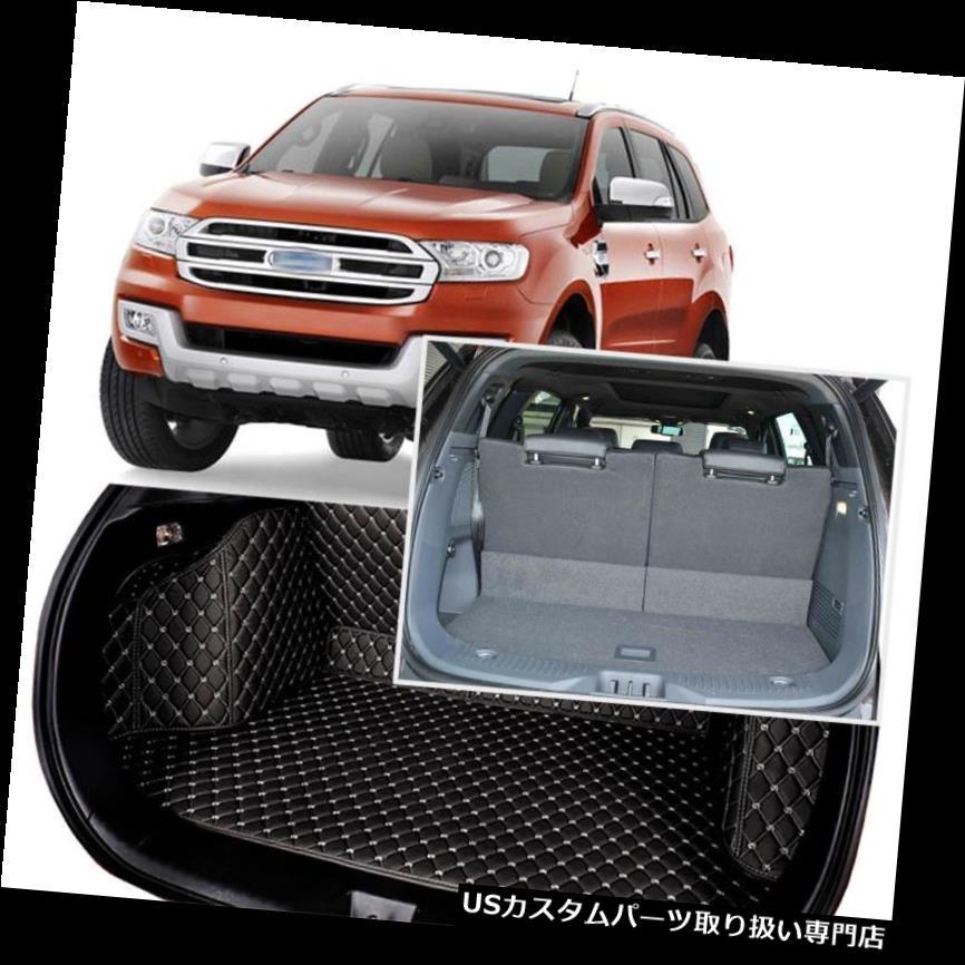リアーカーゴカバー 黒い後部トランクカバーの貨物マットの座席及びフォードエベレストのための床の保護装置7つの座席 Black Rear Trunk Cover Cargo Mats Seat&Floor Protector For Ford Everest 7 Seats