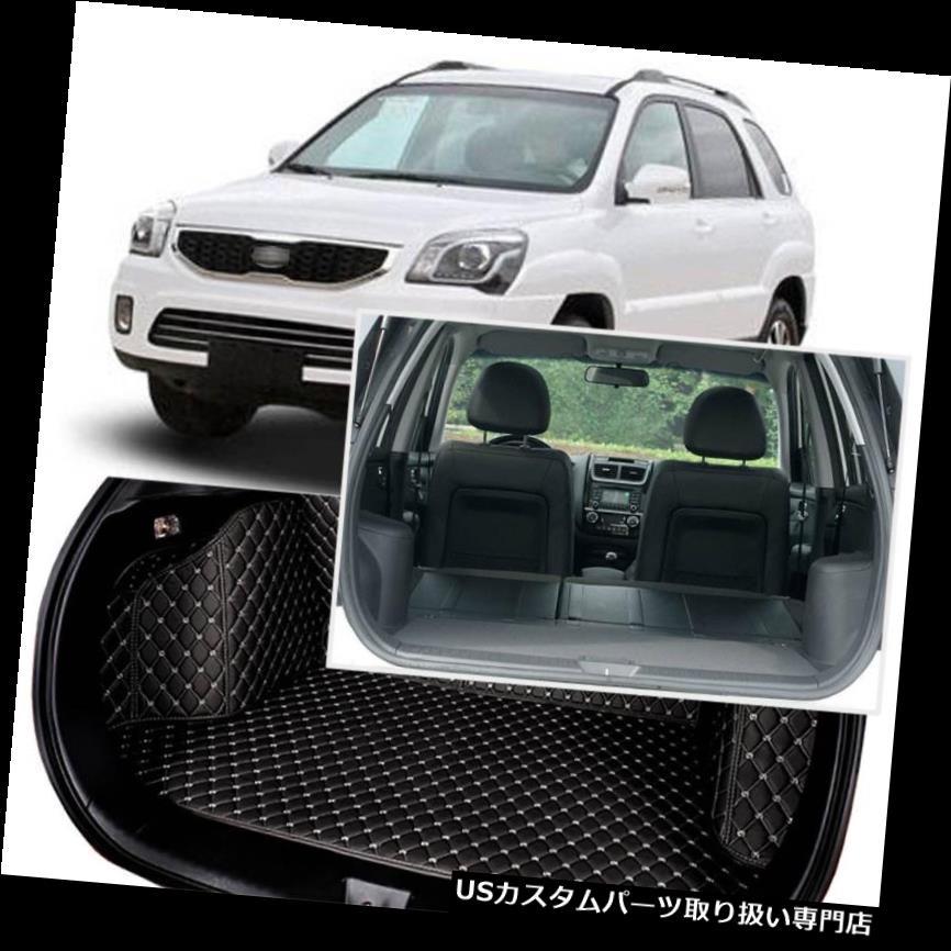 リアーカーゴカバー KIA Sportage 2009-13用ブラックリアトランクカバーカーゴマットシート&フロアプロテクター Black Rear Trunk Cover Cargo Mats Seat&Floor Protector For KIA Sportage 2009-13