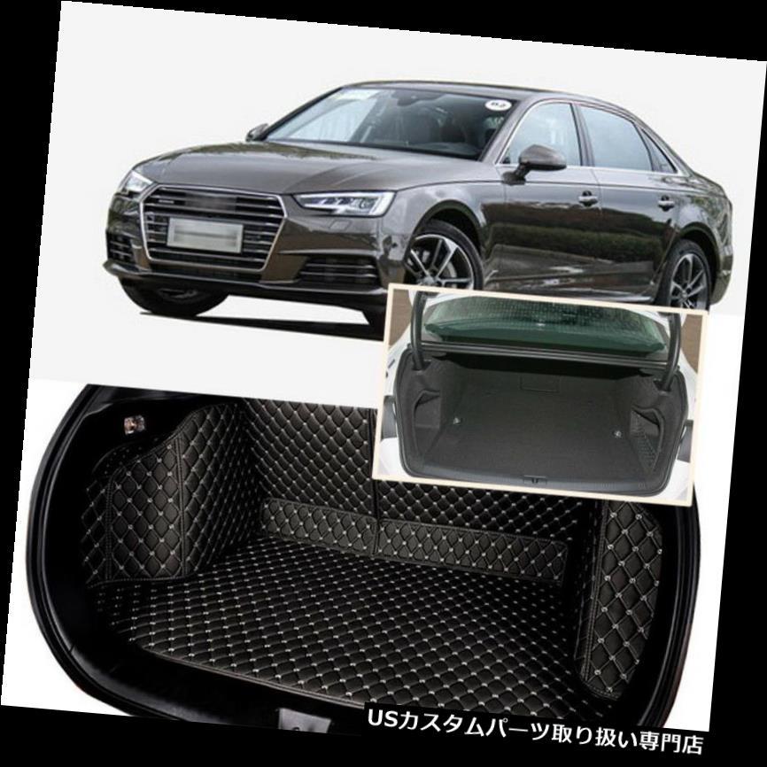 リアーカーゴカバー 1セットブラックリアトランクカバーカーゴマットシート&フロアプロテクターアウディA4 2013-17用 1Set Black Rear Trunk Cover Cargo Mats Seat&Floor Protector For Audi A4 2013-17