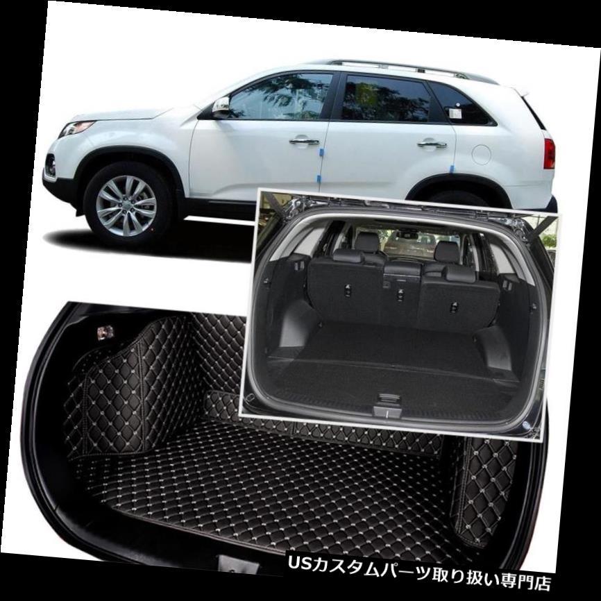 リアーカーゴカバー Kia Sorento 5シート用ブラックリアトランクカバーカーゴマットシート&フロアプロテクター Black Rear Trunk Cover Cargo Mats Seat&Floor Protector For Kia Sorento 5 Seats