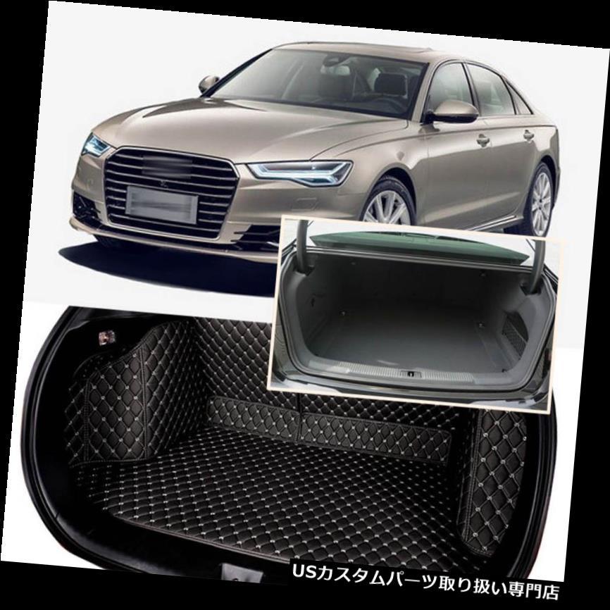 リアーカーゴカバー 1セットブラックリアトランクカバーカーゴマットシート&フロアプロテクターアウディA6 2012-16 1Set Black Rear Trunk Cover Cargo Mats Seat&Floor Protector For Audi A6 2012-16