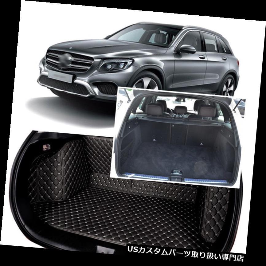 リアーカーゴカバー 1セットブラックリアトランクカバーカーゴマットシート&フロアプロテクターベンツGLC 2018+ 1Set Black Rear Trunk Cover Cargo Mats Seat&Floor Protector For Benz GLC 2018+