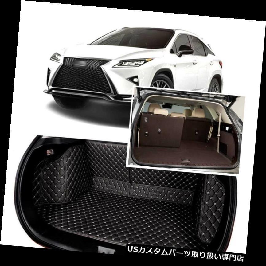リアーカーゴカバー 1セットブラックリアトランクカバーカーゴマットシート&フロアプロテクター用レクサスRX 2017-19 1Set Black Rear Trunk Cover Cargo Mats Seat&Floor Protector For Lexus RX 2017-19