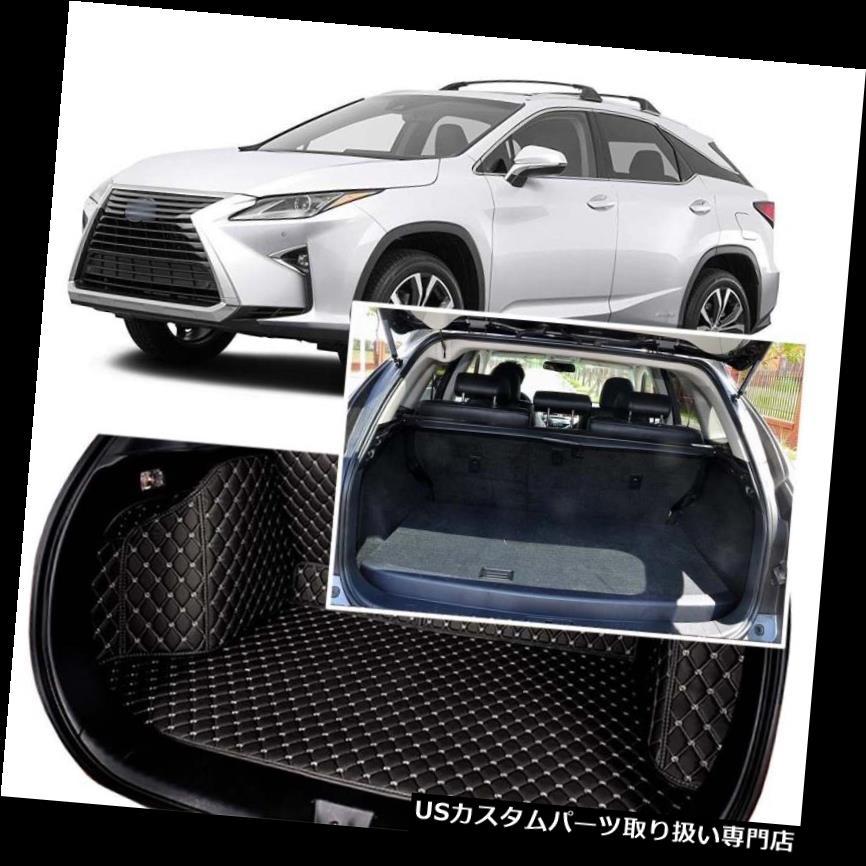 リアーカーゴカバー 1セットブラックリアトランクカバーカーゴマットシート&フロアプロテクター用レクサスRX 2012-16 1Set Black Rear Trunk Cover Cargo Mats Seat&Floor Protector For Lexus RX 2012-16