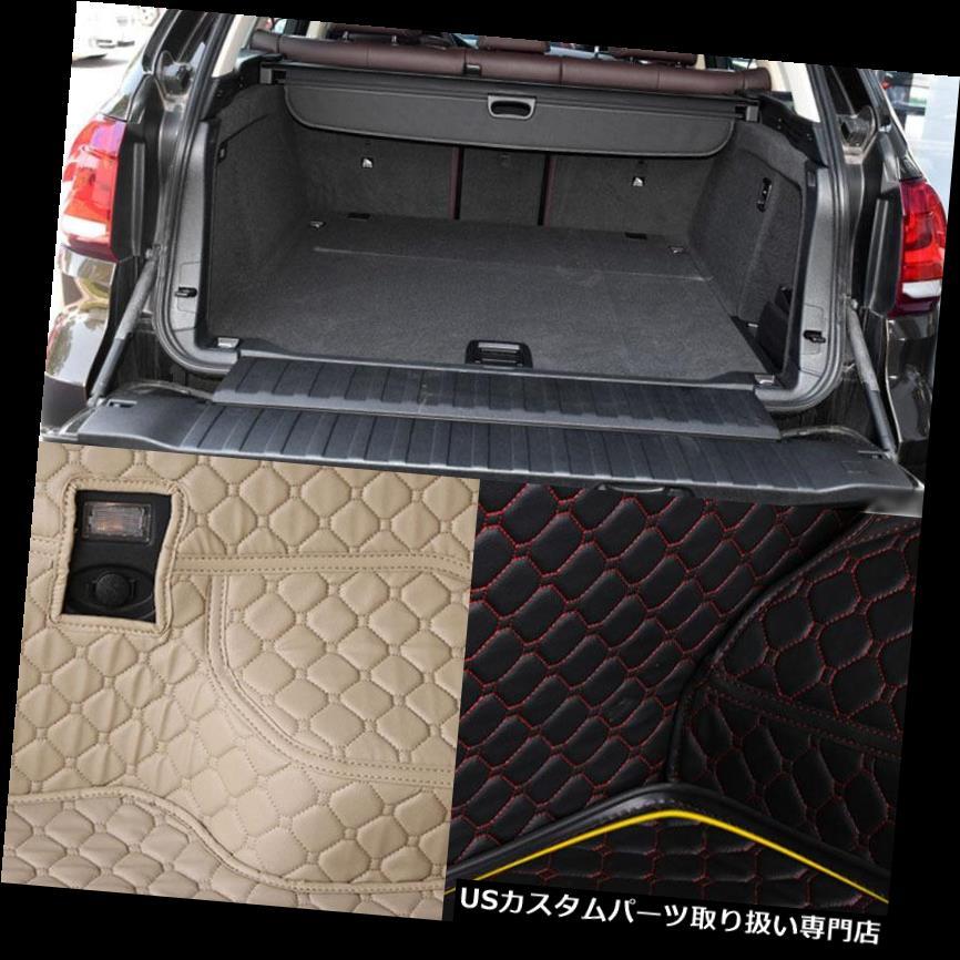 リアーカーゴカバー BMW X5用PUレザーリアトランクカーゴライナープロテクターマットシートバックカバー PU Leather Rear Trunk Cargo Liner Protector Mat Seat Back Cover For BMW X5