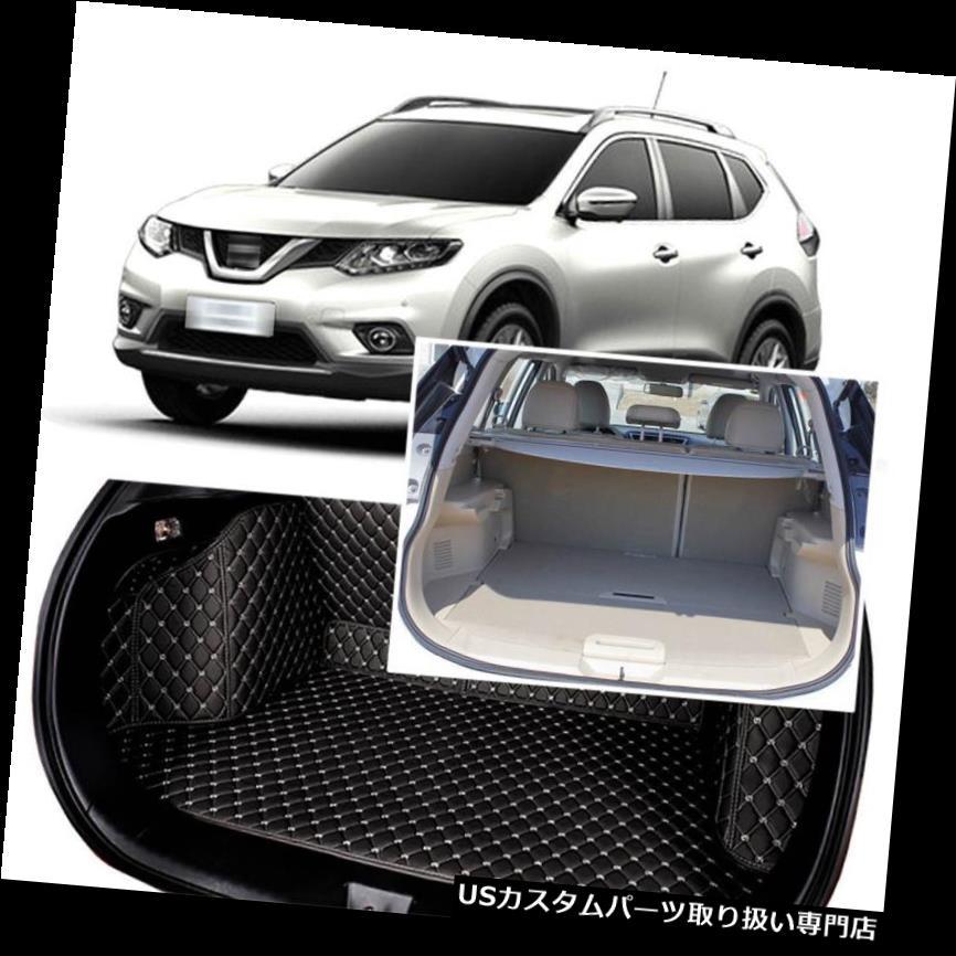 リアーカーゴカバー 1セットブラックリアトランクカバーカーゴマットシート&フロアプロテクター用日産エクストレイル 1Set Black Rear Trunk Cover Cargo Mats Seat&Floor Protector For Nissan X-Trail