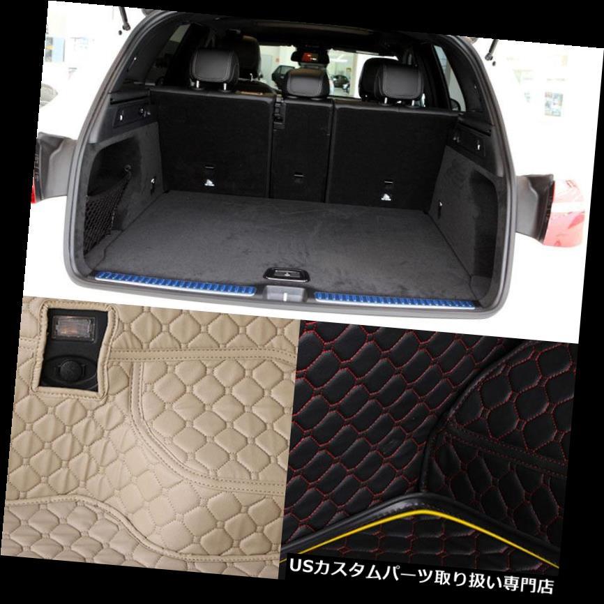 リアーカーゴカバー PUレザーリアトランクカーゴライナープロテクターマットシートバックカバーベンツGLC PU Leather Rear Trunk Cargo Liner Protector Mat Seat Back Cover For Benz GLC