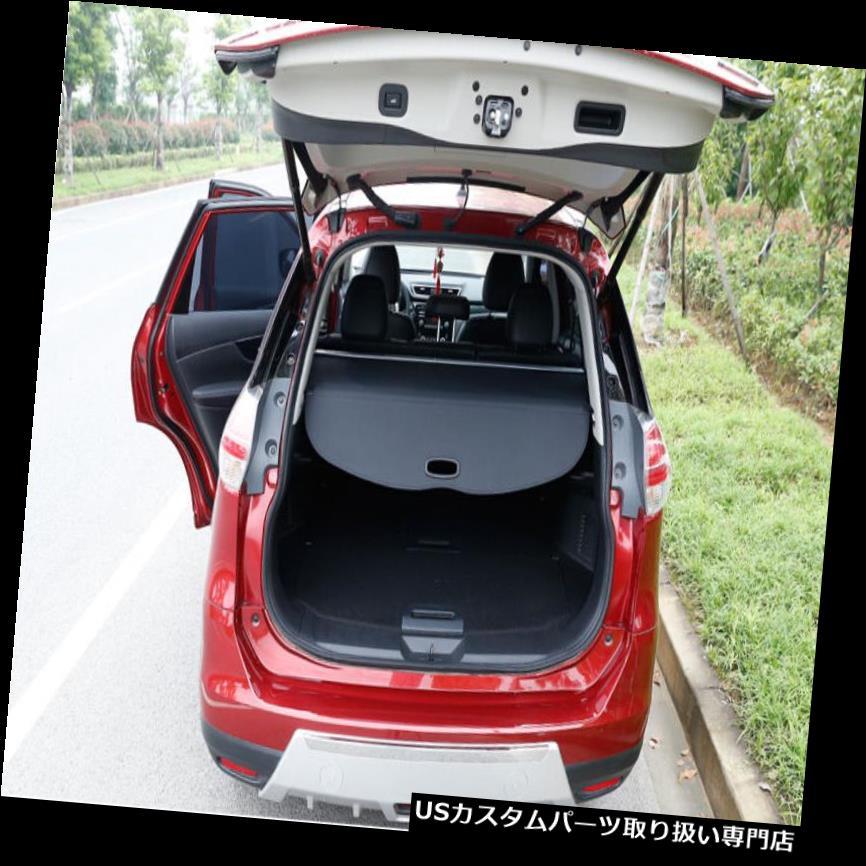 リアーカーゴカバー 日産エクストレイルローグ14-18用リアトランクセキュリティシールドカーゴカバーブラックフィット Rear Trunk Security Shield Cargo Cover Black Fit For Nissan X-Trail Rogue 14-18