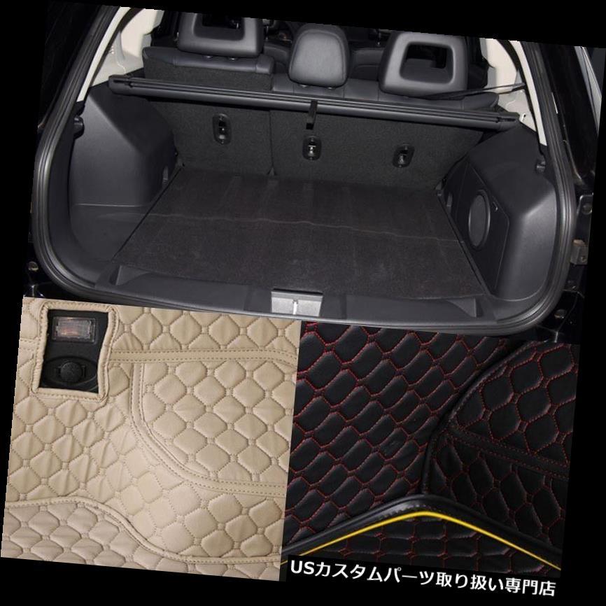 リアーカーゴカバー ジープコンパス用PUレザーリアトランクカーゴライナープロテクターマットシートバックカバー PU Leather Rear Trunk Cargo Liner Protector Mat Seat Back Cover For Jeep Compass