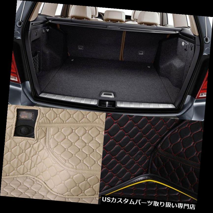 リアーカーゴカバー PUレザーリアトランクカーゴライナープロテクターマットシートバックカバーベンツGLK PU Leather Rear Trunk Cargo Liner Protector Mat Seat Back Cover For Benz GLK