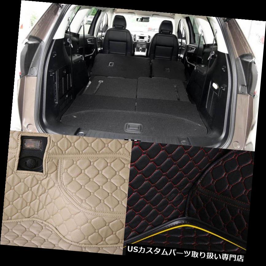 リアーカーゴカバー フォードの端のためのPUの革後部トランクの貨物はさみ金の保護装置のマットの座席裏表紙 PU Leather Rear Trunk Cargo Liner Protector Mat Seat Back Cover For Ford Edge