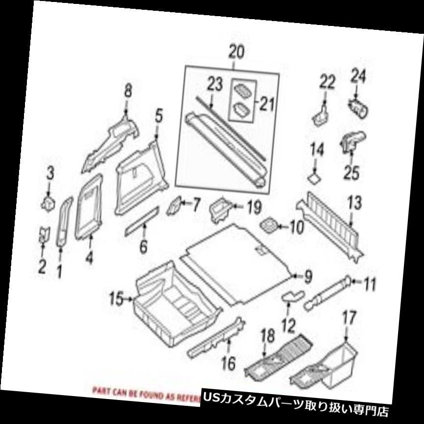 リアーカーゴカバー BMW純正貨物カバーハンドル用リア51477400253 For BMW Genuine Cargo Cover Handle Rear 51477400253