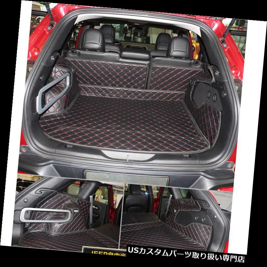 リアーカーゴカバー ジープチェロキー2013-2016年のためのカーゴトランクブーツライナーマットカーペットフルカバー Cargo Trunk Boot Liner Mats Carpet Full Cover For Jeep Cherokee 2013-2016 Years