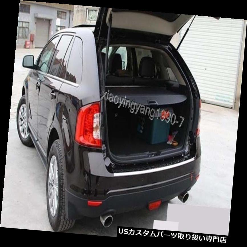 リアーカーゴカバー 2011-2013フォードエッジブラック用リアトランクシェードカーゴカバートリム Rear Trunk Shade Cargo Cover Trim for 2011-2013 Ford Edge Black