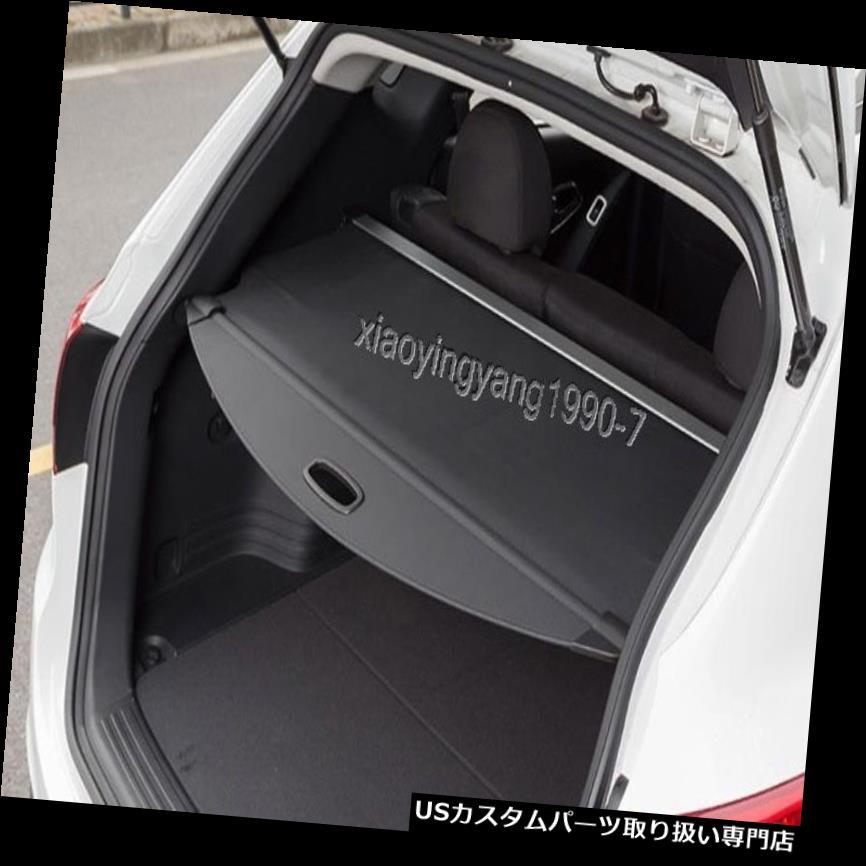 リアーカーゴカバー 2014-2017日産エクストレイルローグT32ブラック用リアトランクシェードカーゴカバートリム Rear Trunk Shade Cargo Cover Trim for 2014-2017 Nissan X-Trail Rogue T32 Black