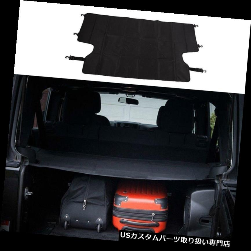 リアーカーゴカバー 黒600 Dオックスフォード布バックリアセキュリティシェードトランクカーゴカバー用ジープWran Black 600D Oxford Cloth Back Rear Security Shade Trunk Cargo Cover For Jeep Wran