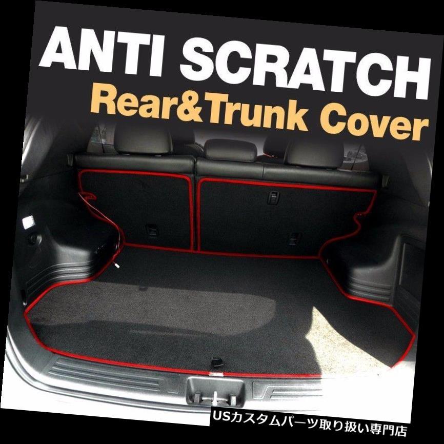 リアーカーゴカバー ヒュンダイ2013-16サンタフェのための反傷の後部座席カバートランクの貨物フロアマット Anti Scratch Back Seat Cover Trunk Cargo Floor Mat for HYUNDAI 2013-16 Santa Fe