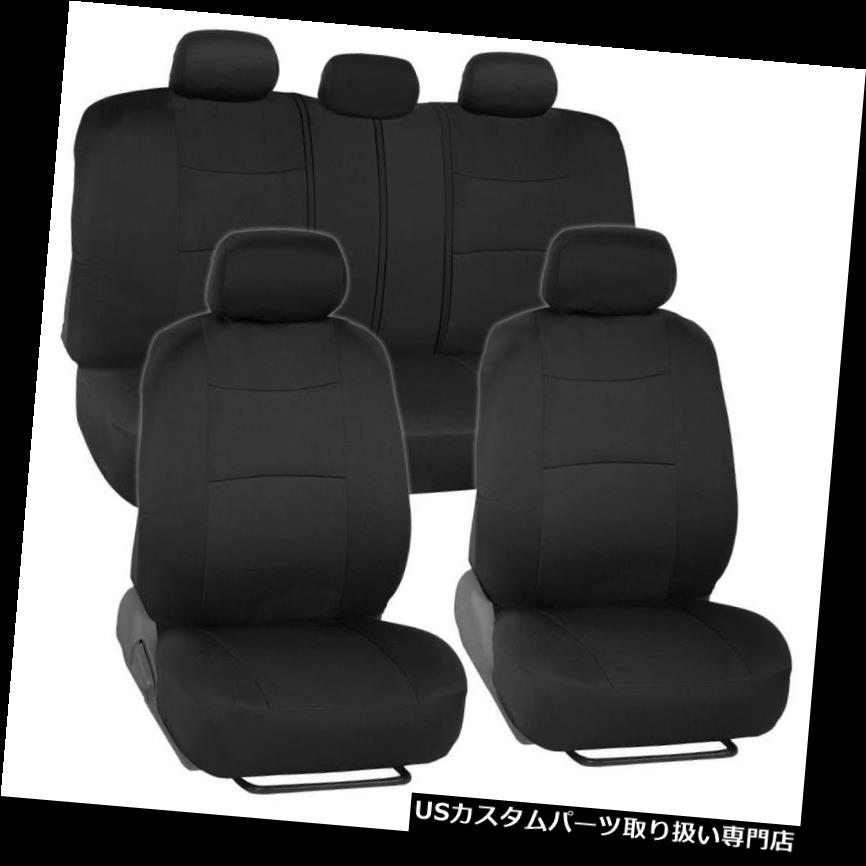 Rubber Floor Mats Rear Trunk Liner Universal Car Seat Covers Charcoal//Black