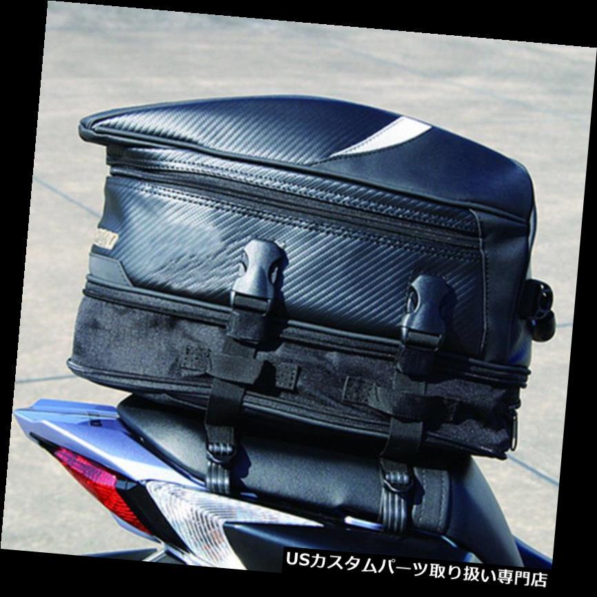 リアーカーゴカバー ポータブルブラックオートバイリアバッグバックシートヘルメットパック荷物ボックスケースカバー Portable Black Motorcycle Rear Bag Back Seat Helmet Pack Luggage Box Case Cover