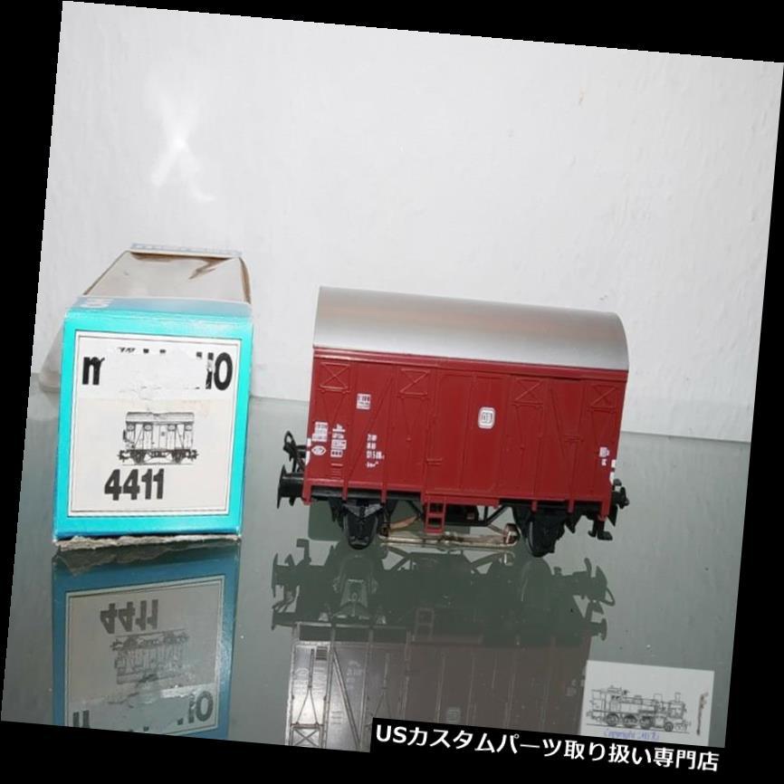 リアーカーゴカバー M rklin4411、貨物車用リアライトDbゲージH0付き貨物ワゴン M?rklin 4411, Freight Car Covered Cargo Wagon with Rear Light Db Gauge H0