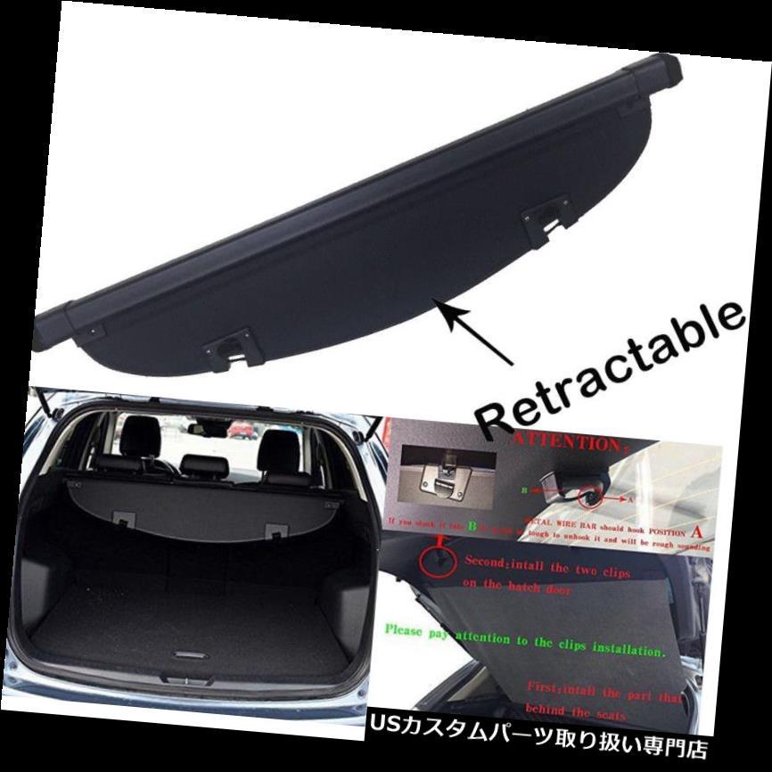 リアーカーゴカバー キャンバスインナーオートリアブートトランクシールドカーゴカバー用マツダCX-5 2017 2018 Canvas Inner Auto Rear Boot Trunk Shield Cargo Cover For Mazda CX-5 2017 2018