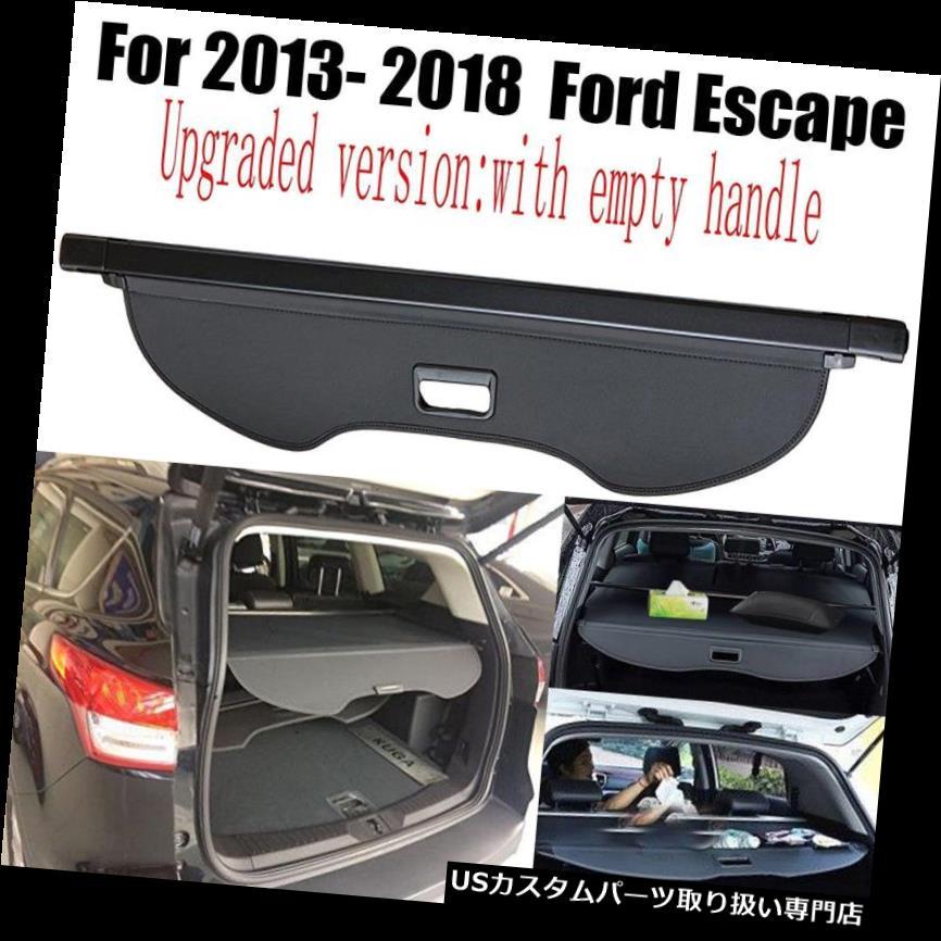 リアーカーゴカバー 2013-2018フォードエスケープ格納式ブラックカーゴカバーリアトランクプライバシーシェード For 2013-2018 Ford Escape Retractable Black Cargo Cover Rear Trunk Privacy Shade