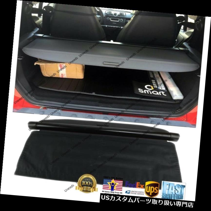 リアーカーゴカバー 08-15のためにメルセデス・ベンツSMART後部トランク・ブラックOEスタイルの引き込み式のカーゴカバー For 08-15 Mercedes-Benz SMART REAR TRUNK BLACK OE STYLE RETRACTABLE CARGO COVER