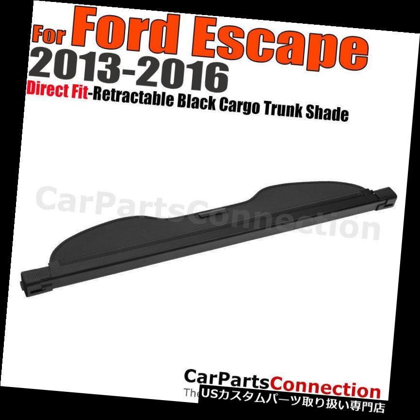 リアーカーゴカバー 13-16フォードの脱出のための黒い引き込み式の貨物カバートランクの荷物の保証陰 Black Retractable Cargo Cover Trunk Luggage Security Shade For 13-16 Ford Escape