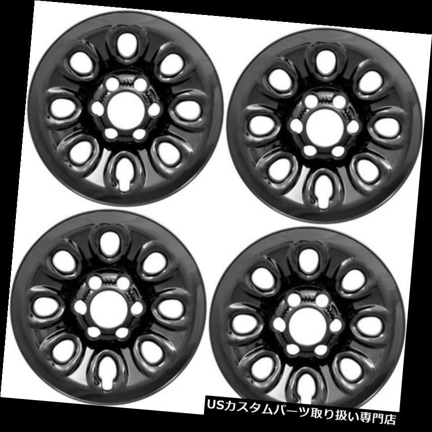 リアーカーゴカバー (4)2005 GMCシエラトラックブラックホイールライナーがスキンIMP64BLKをカバー (4) 2005 GMC SIERRA TRUCK BLACK WHEEL LINERS COVERS SKINS IMP64BLK
