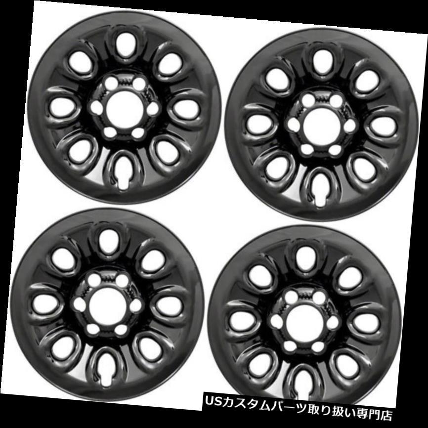 リアーカーゴカバー (4)2007 GMCシエラトラックブラックホイールライナーがスキンIMP64BLKをカバー (4) 2007 GMC SIERRA TRUCK BLACK WHEEL LINERS COVERS SKINS IMP64BLK