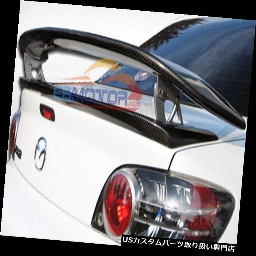 FOR  CARBON FIBER MAZDA 04-11 RX8 RX-8 JDM REAR WING TRUNK SPOILER