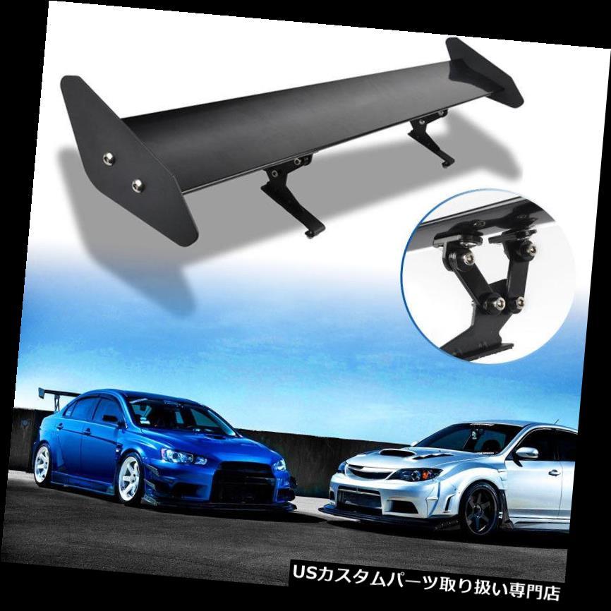 GTウィング 普遍的な黒の調節可能なアルミニウム軽量GTの後部競争のスポイラー翼 Universal Black Adjustable Aluminum Light Weight GT Rear Racing Spoiler Wing