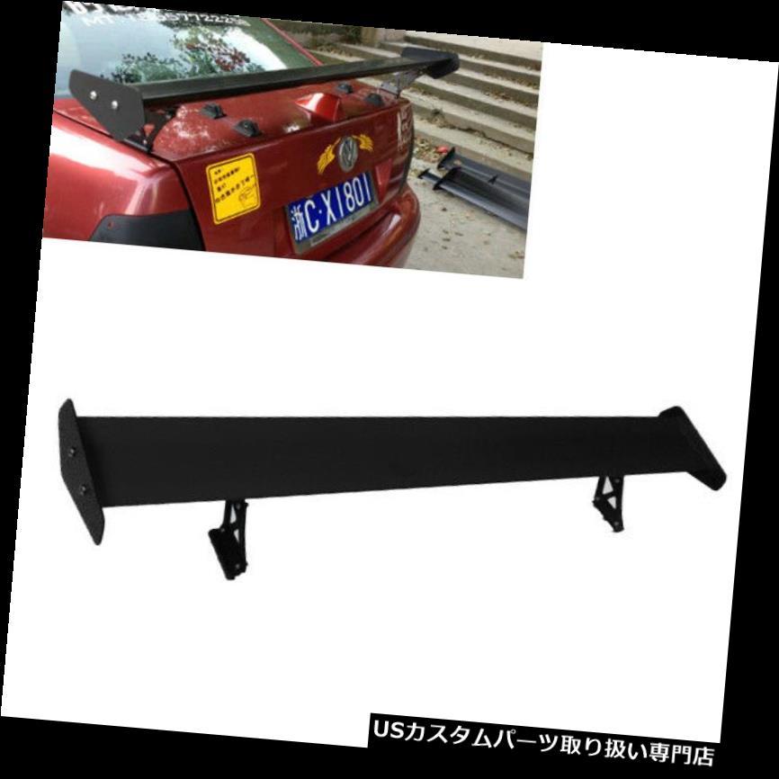 GTウィング ブラックレーシングアジャスタブルアルミGTリアトランクウィングスポイラーユニバーサルカー Black Rracing Adjustable Aluminum GT Rear Trunk Wing Spolier Universal Car