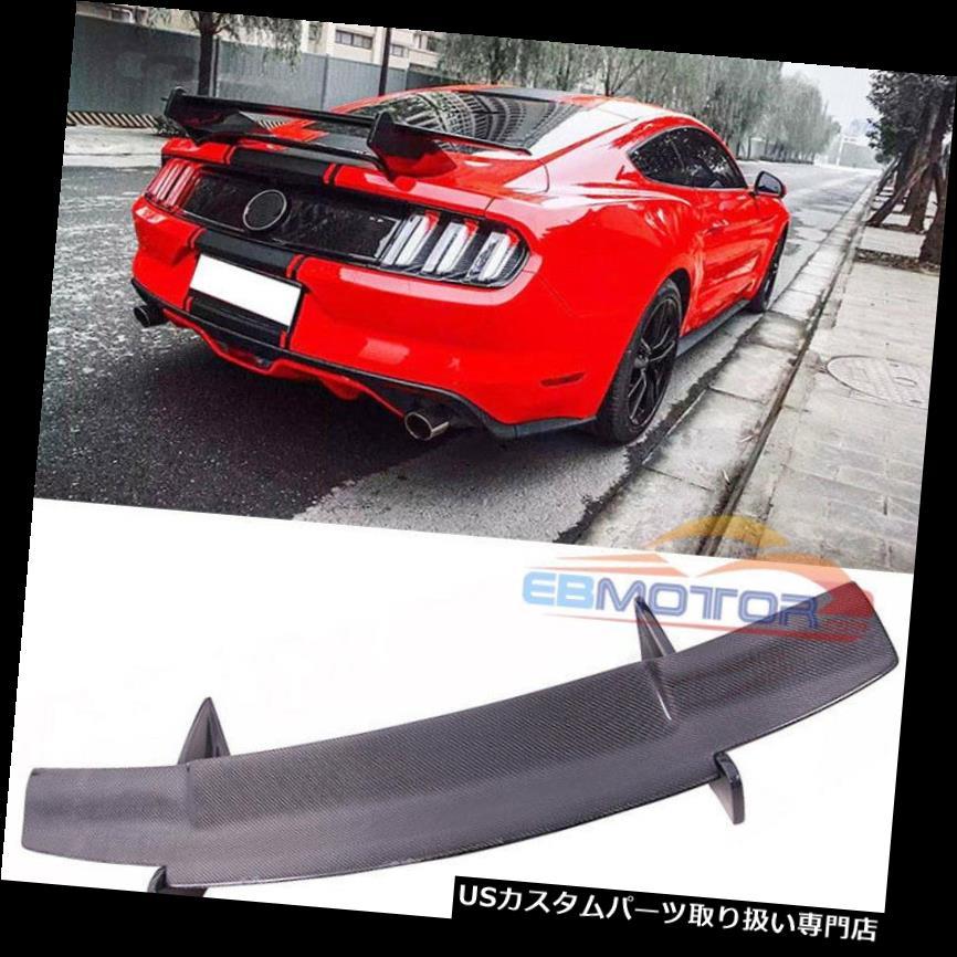 GTウィング フォードマスタング15UP F020のためのGTカーボンファイバーの後部翼のスポイラーのトランクのスポイラー GT Carbon Fiber Rear Wing Spoiler Trunk Spoilers For Ford Mustang 15UP F020