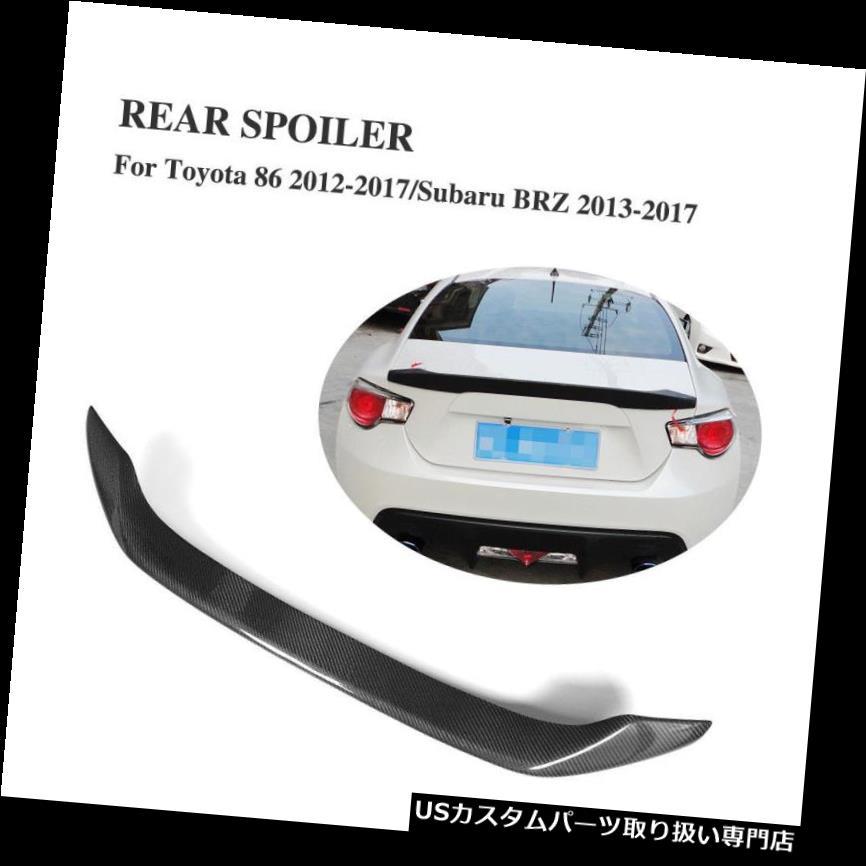 GTウィング トヨタGT86 12-17スバルBRZ 13-17リアトランクスポイラーリップウィングカーボンファイバーにフィット Fits Toyota GT86 12-17 Subaru BRZ 13-17 Rear Trunk Spoiler Lip Wing Carbon Fiber