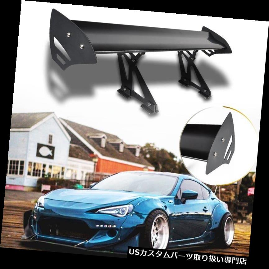 GTウィング 普遍的な車のアルミニウム調節可能な軽量の後部競争GTのスポイラーの翼の黒 Universal Car Aluminum Adjustable Light Weight Rear Racing GT Spoiler Wing Black