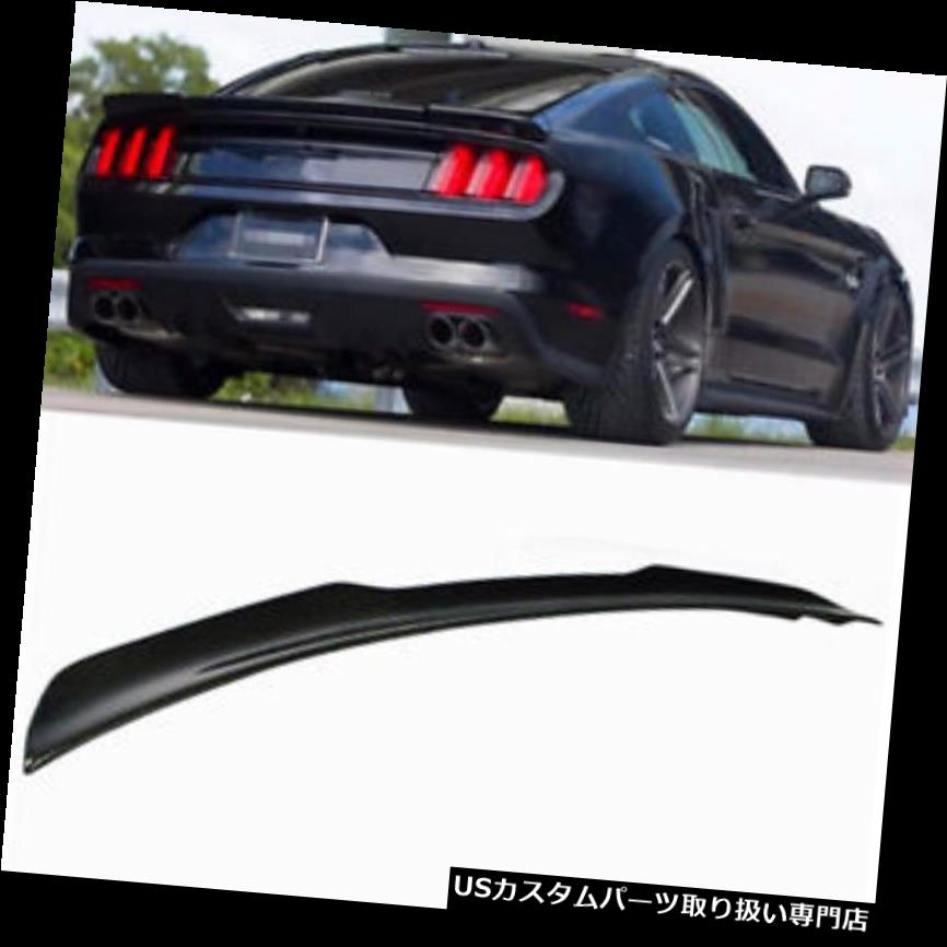 GTウィング フォードマスタング15-18 17のGT Hスタイルカーボンファイバーリアトランクブーツスポイラーウイング GT H Style Carbon Fiber Rear Trunk Boot Spoiler Wing For Ford Mustang 15-18 17
