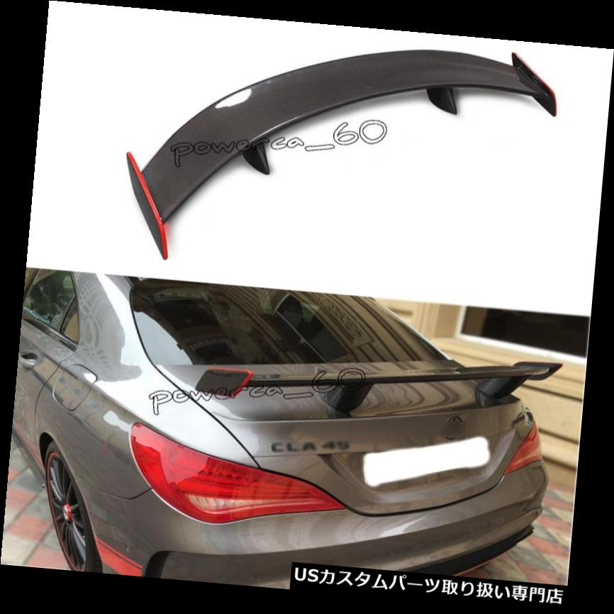 GTウィング メルセデスベンツカーボンファイバーGTリアスポイラーウィングレッドラインW117 A45 2013+用 For Mercedes Benz Carbon Fiber GT Rear Spoiler Wing with Red Line W117 A45 2013+